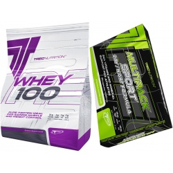 Trec - Whey 100 2000g + Multipack Day/Night Formula 60k