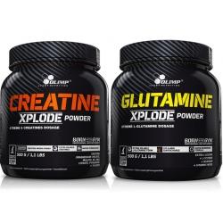 Olimp - Creatine Xplode 500g + Glutamine Xplode 500g