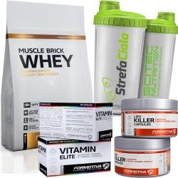 Formotiva - Muscle Brick Whey 700g + Lipo Killer 120k + Vitamin Elite 60k + Shaker Gratis!
