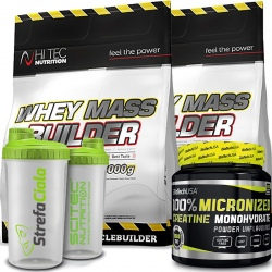 Hi Tec - Whey Mass Builder 6kg + Biotech - Creatine 500g + Shaker Gratis!