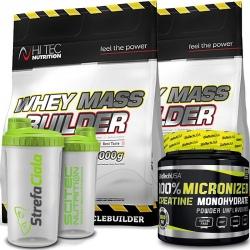 Hi Tec - Whey Mass Builder 4,5kg + Biotech - Creatine 500g + Shaker Gratis!