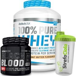 Biotech - 100% Pure Whey 2270g + Black Blood CAF+ 300g i Shaker GRATIS!