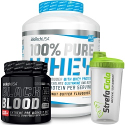 Biotech - 100% Pure Whey 2270g + Black Blood CAF+ 300g +shaker