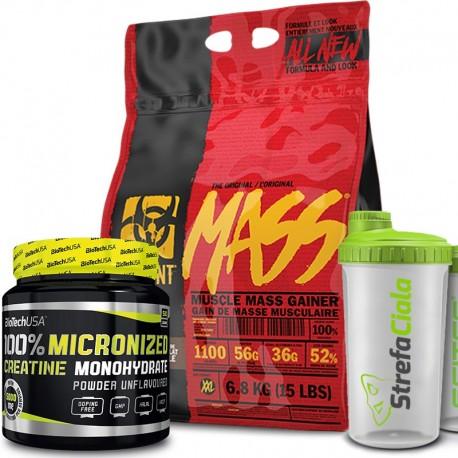 PVL Mutant Mass 6800g + Biotech Creatine 500g + Shaker Free!