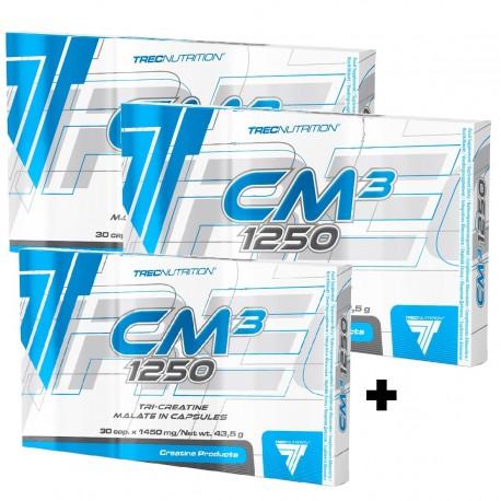 Trec CREATINE CM3 2x 30caps + 30c. free!