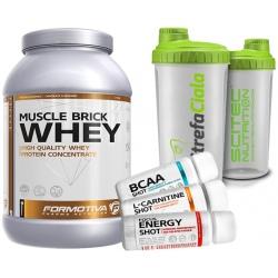 Formotiva - Muscle Brick Whey 2100g + Shaker + Shot Gratis!
