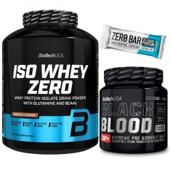 Biotech - Iso Whey Zero 2270g + Black Blood + Zero Bar