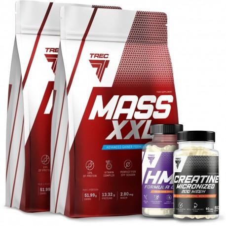 Trec - Mass XXL 2kg + Kreatyna + Hmb