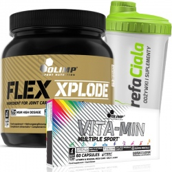 Olimp zestaw - Flex Power 360g + Vita-Min Multiple Sport 60k