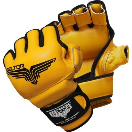 Beltor - Rękawice MMA Pride Yellow - Black