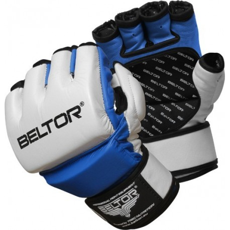 Beltor - Rękawice MMA One White - Blue