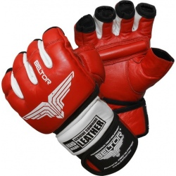 Beltor - Rękawice MMA Combat Red - White