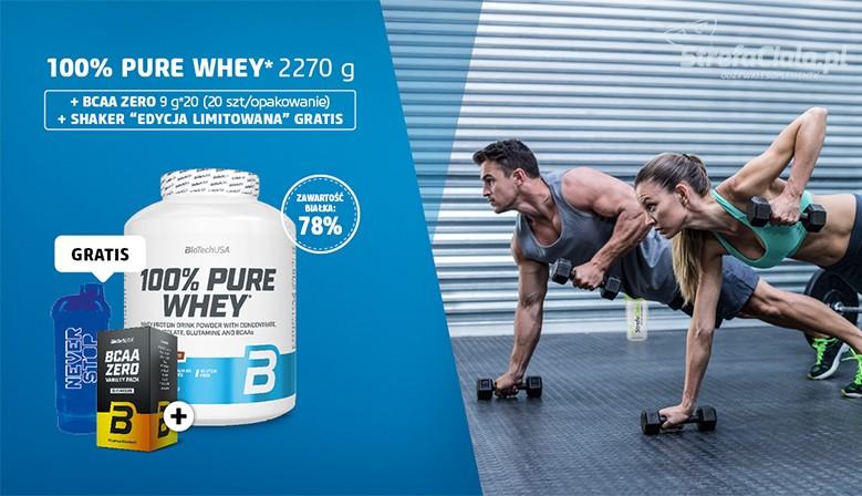 100% Pure Whey Biotech + BCAA ZERO Gratis + Shaker